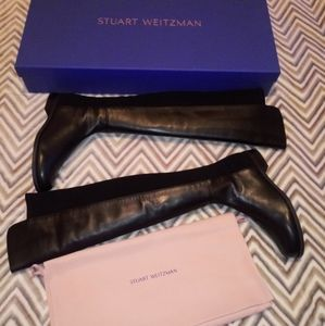 Stuart Weitzman 50/50 Leather Boots